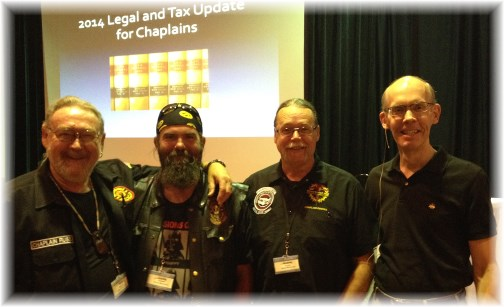 Motorcycle chaplains with Richard Hammer 6/24/14