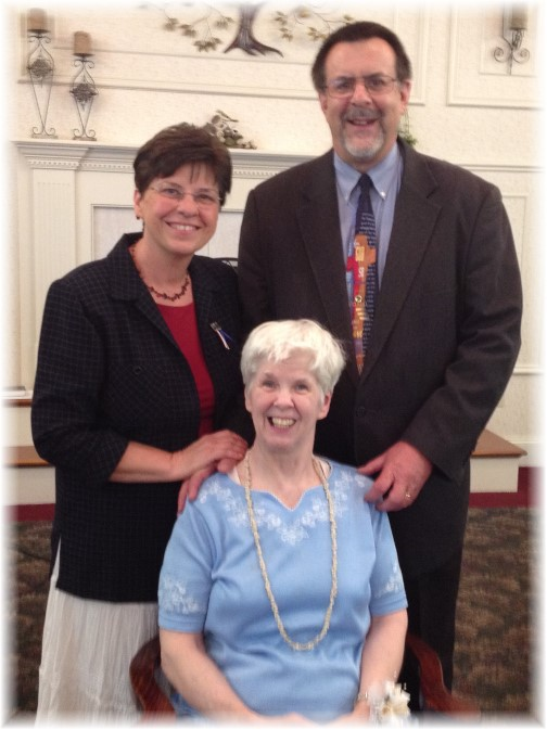 With Patty at her baptism 5/25/14