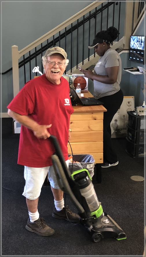 Rick Steudler at service day 9/6/18
