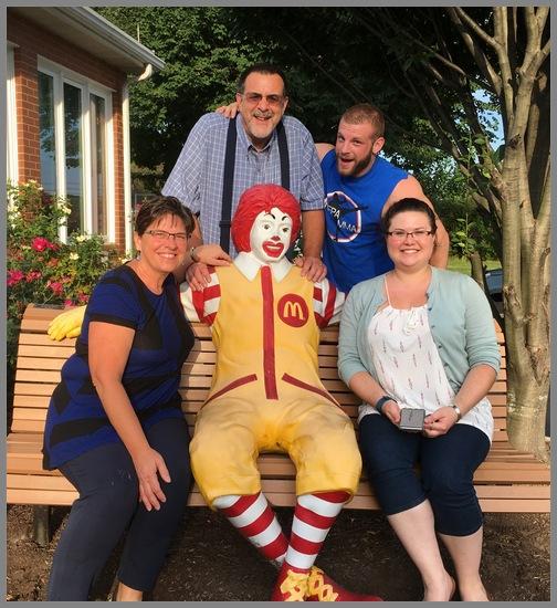 Ronald McDonald House meal team 8/30/18