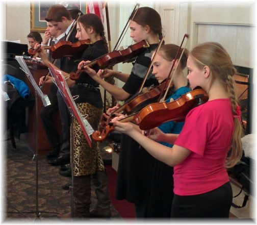 Russian youth playing violins 2/22/15