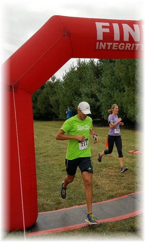 Sheldon Miller 5k race finish 9/17/16