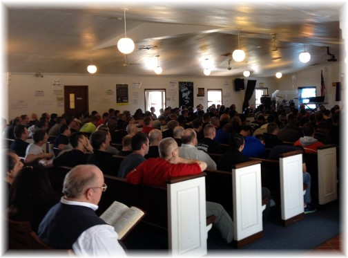Teen Challenge prayer meeting, Rehersburg, PA