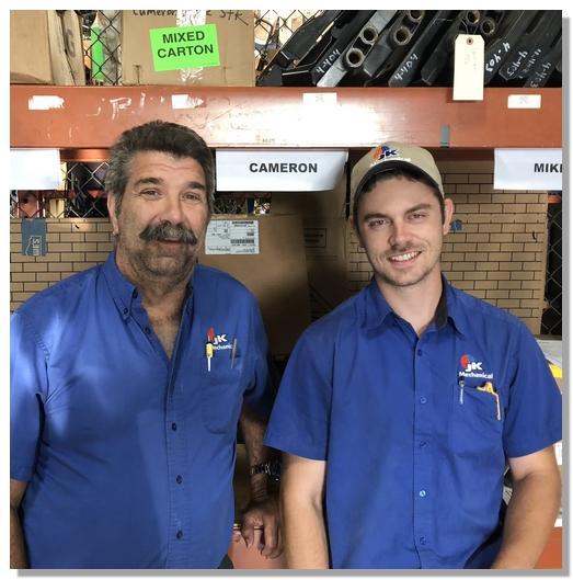 Tom and Cameron, JK service team