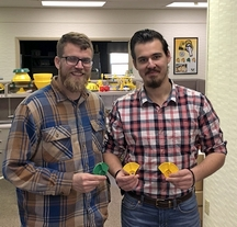 Stephen and André, Val-Co engineers 3/15/19