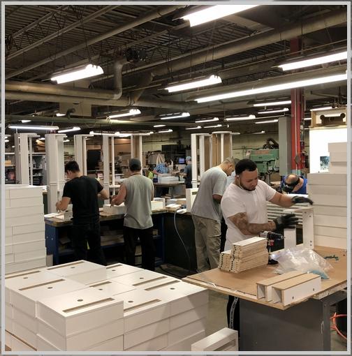 White Oak Display assemblers 9/25/18