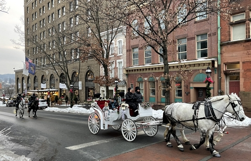 Bethlehem, PA at Christmas time.