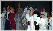 Children in Christmas play