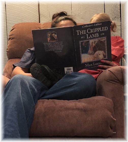 "Ester reading ""The Crippled lamb"" 12/24/17"