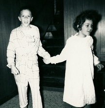 Stephen and sister Genelle Christmas 1964