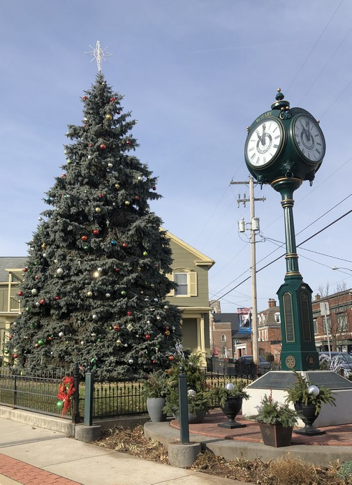Christmas tree on Main Street, Mount Joy, PA