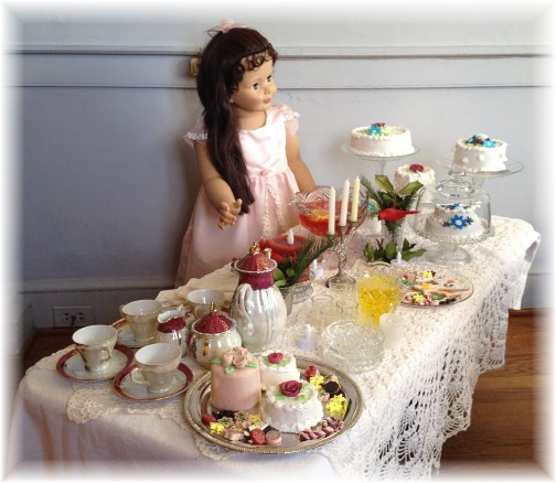 Poole Forge ironmaster's mansion Christmas tea display 12/7/14