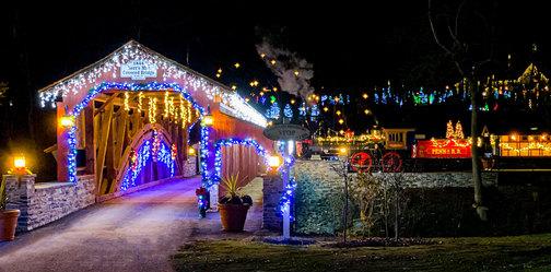 Star Barn at Christmas