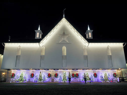 Star Barn at Christmas