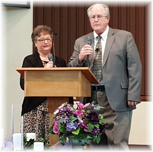 Pastor John and Faithe Keefer singing 4/17/16