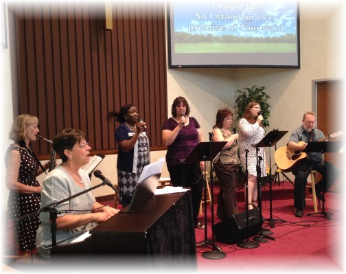 Mount Pleasant praise team 5/17/15