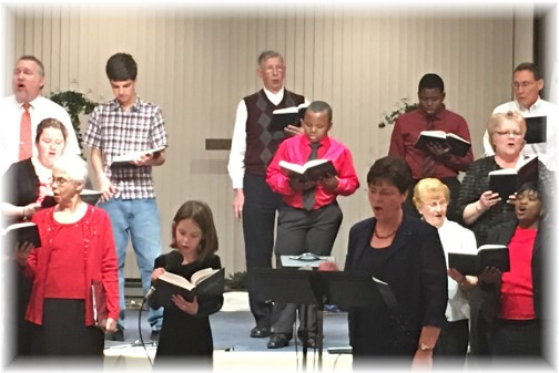 Brooksyne and church choir 1/10/16