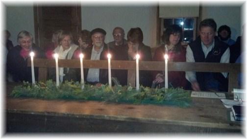 Alleghany Mennonite Meetinghouse hymn sing 12/3/12, Berks County PA