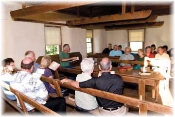 Alleghany Mennonite Meetinghouse interior, Berks County PA