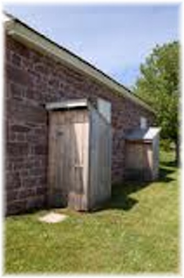 Alleghany Mennonite Meetinghouse outhouses, Berks County PA