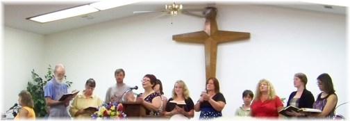 Church singing, Mountaintop Arkansas