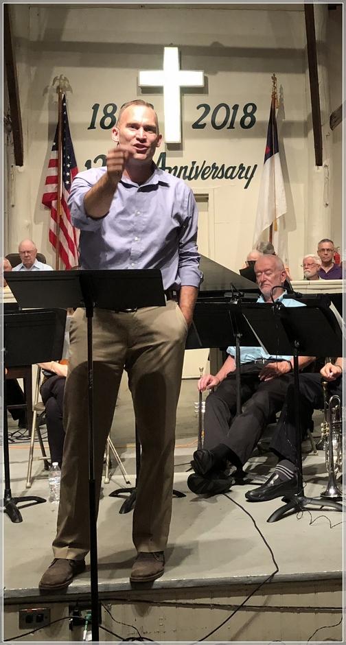 Beau Eckert preaching at Mount Gretna Tabernacle 8/12/18