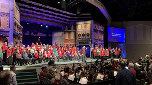 Calvary Church Choir and orchestra 12/15/19 (Click to enlarge)