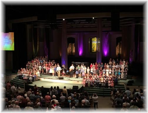 Calvary Church children's choir 10/22/17