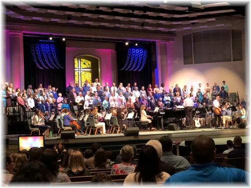 Calvary Church Easter choir 2018
