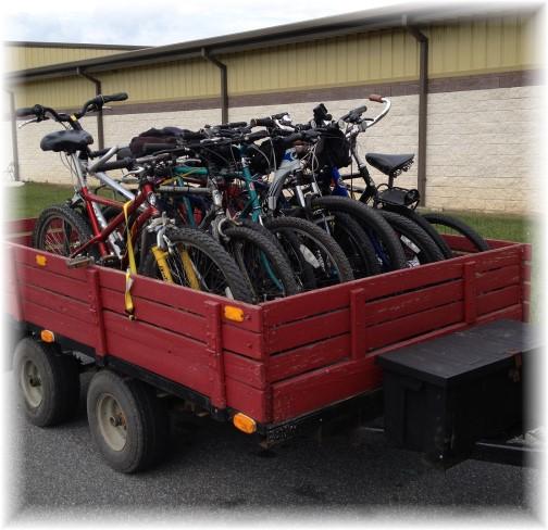 Men and boys campout bikes 9/6/14