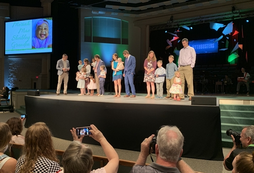 Calvary Church child dedication 6/9/19