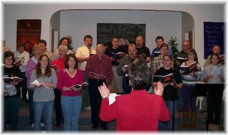 """Final """"Hope Has Hands"""" choir rehearsal 12/6/09"""