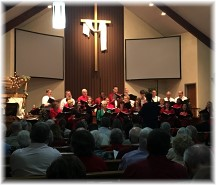 Mount Pleasant Christmas choir 2015 (Click to enlarge)