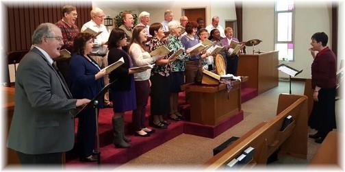 Church choir 3/20/16