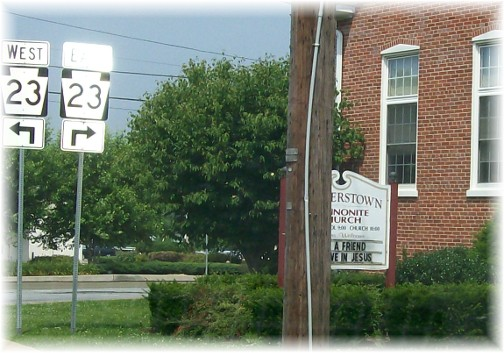 Church sign in Rohrerstown, PA