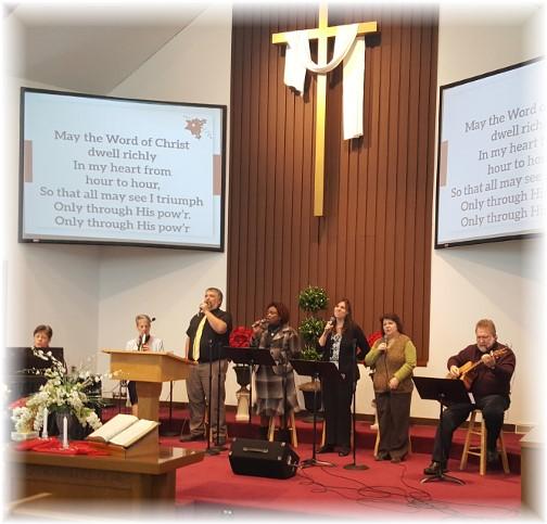 Church worship team 1/8/17