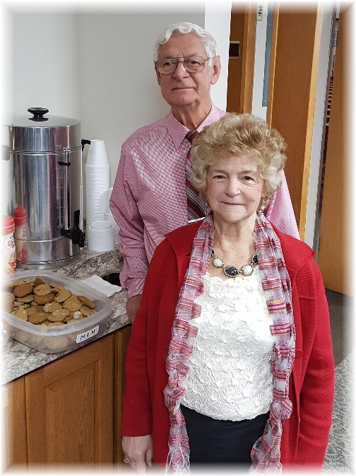 Mervin and Lois with cookies 12/18/16