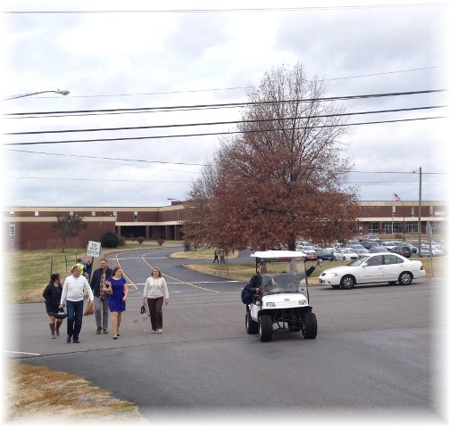 Donelson Fellowship parking 11/30/14