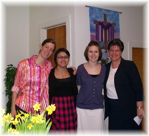 Easter service church friends 4/24/11
