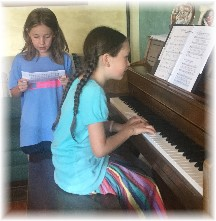 Girls practicing song 7/16/16