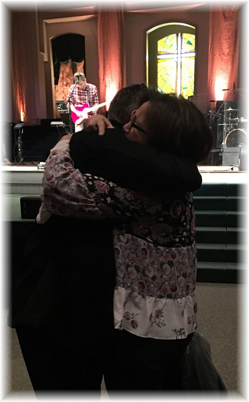 Ian baptism hug with mother 11/26/17