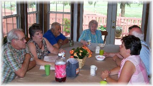 Ice cream sundae fellowship guests 7/24/11