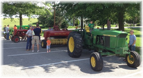 Tractors at Mount Pleasant men's breakfast 6/14/14