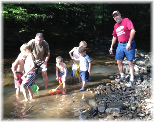 Men and boys playing in Conodoquinet Creek 9/6/14