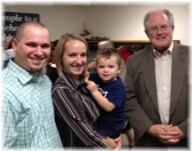 Miller family with Pastor 10/18/15