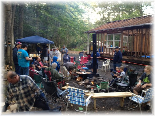 Mount Pleasant Campout breakfast 2015