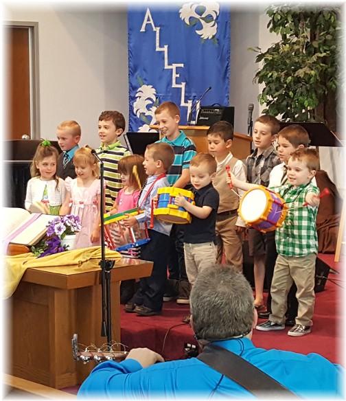 Mount Pleasant children singing 4/16/17