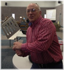Nelson Heisey with giant spatula