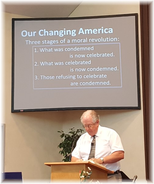 Pastor Keefer preaching 8/21/16