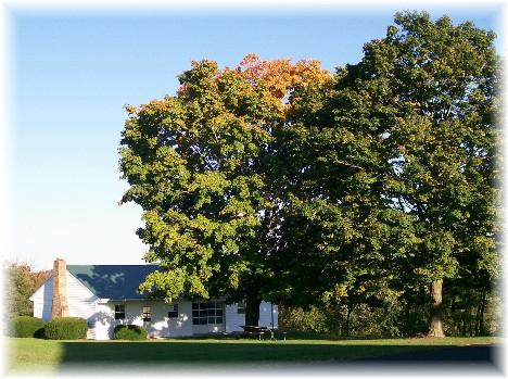 Church picnic pavilion Mastersonville, PA  10/13/10